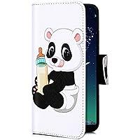 Uposao Handyhülle für iPhone XR Handy Tasche Bunt 3D Muster Brieftasche Ledertasche Klapphülle Leder Flip Case Cover Klappbar Lederhülle mit Kartenfach,Panda Flasche