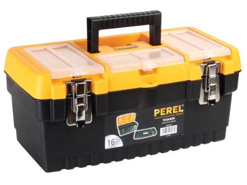 """PEREL - OM16M Werkzeugkoffer mit Metallschlössern, 16\"""" Länge 144772"""