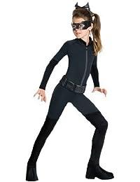 niña Catwoman Batman Mono Catsuit Gato Negro Ladrón Halloween Película ...