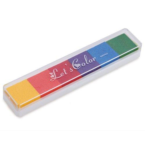 Landsell Inkpad Stamp Pad Fingerdruck 6 Farben NICHT TOXISCH kindersicher