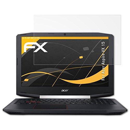 atFolix Panzerfolie kompatibel mit Acer Aspire VX 15 Schutzfolie, entspiegelnde & stoßdämpfende FX Folie (2X)