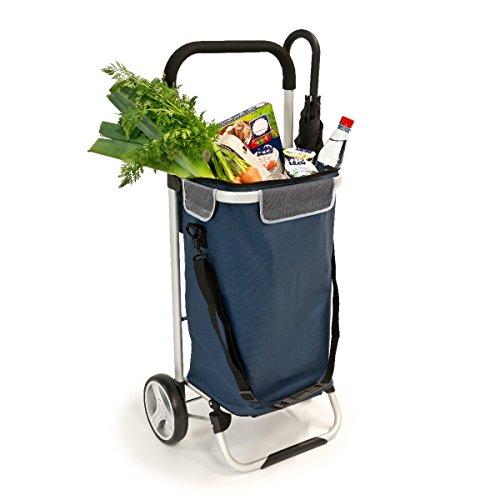 bremermann Einkaufstrolley, Handwagen, Einkaufswagen mit abnehmbarer Tasche