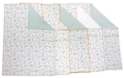 Soulwell Baby Bio-Baumwolle Burp Kleidung Set von 5-Super weich bunte glatte saugfähige 2-Lagen Premium Qualität GOTS zertifiziert Mehrzweck Burp Lumpen 35 x 50 cm (Baby-kleidung Bio-baumwolle)