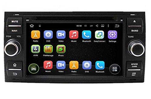 (Negro) 2 Din 7 pulgadas Coche Estéreo con GPS Navegación Android 5.1...