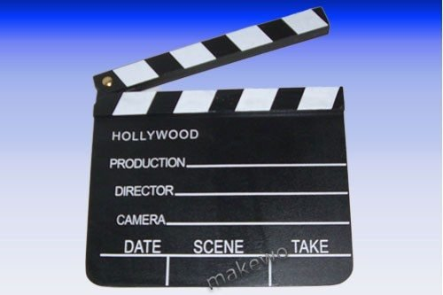 Holz Regieklappe, 18 x 20 cm, Hollywood Filmdeko, -