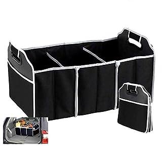 AIBULO Robuster 2-in-1-Kofferraum-Organizer, Einkaufstasche, robust, zusammenklappbar