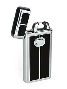 eFuego Elektronisches Sturmfestes Plasma Lichtbogen Feuerzeug mit USB Ladekabel für Zigaretten Kerzen und mehr