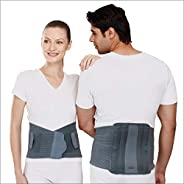Tynor Contoured L.S. Support belt(Immobilization, Posture Correction, Back Pain Relief)-Large