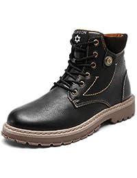 QUICKLYLY Botas para Hombre Calzado De Protección Zapatos Moda De Tacón Alto Casuales Botines Martin