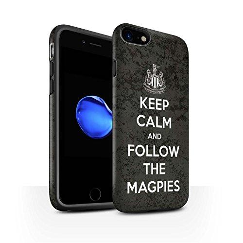 Offiziell Newcastle United FC Hülle / Matte Harten Stoßfest Case für Apple iPhone 7 / Howay Jungs Muster / NUFC Keep Calm Kollektion Folgen/Magpies