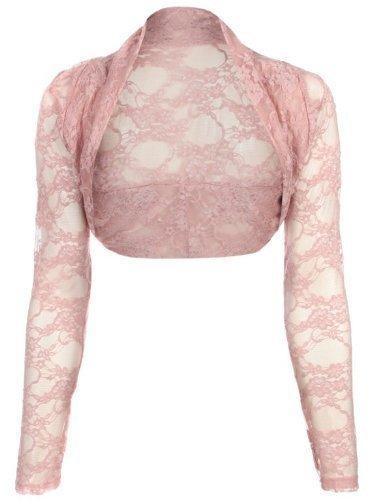 Womens Cropped Lace Shrug Ladies Bolero Plus Shrug Size UK 8 - 24