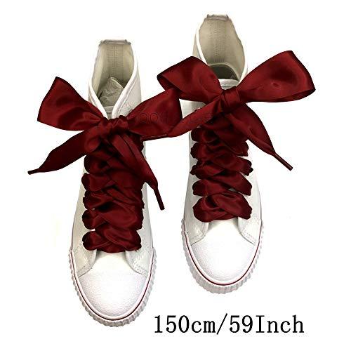 Goodnews 4cm di larghezza Moda lacci in raso nastro lacci piatto raso largo  nastro lacci per scarpe sportive Sneakers colori assortiti 9022b6ba3b7