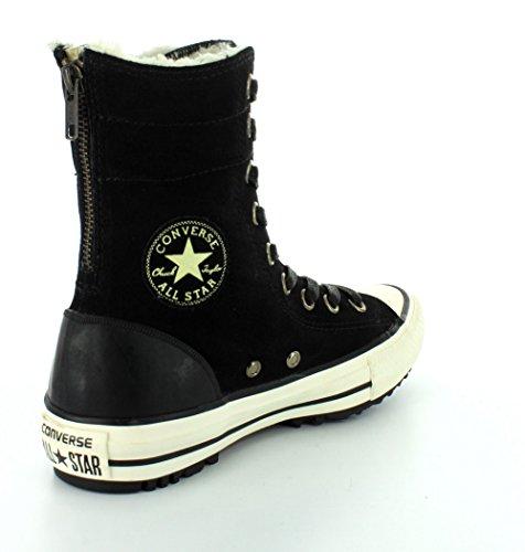Converse CHUCK TAYLOR ALL STAR HI-RISE MATERIAL LEATHER Boot Damen Schwarz