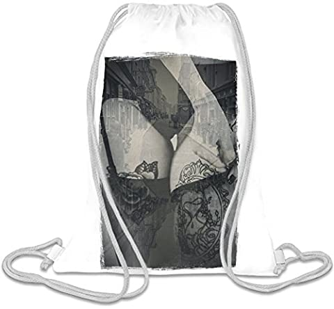 Vintage lingerie Custom Printed Drawstring Sack | 100% Soft Polyester| 5 Liter Capacity| Adjustable String Closure| The Stylish Bag For Every Day Use| Custom Bags By Bang Bangin