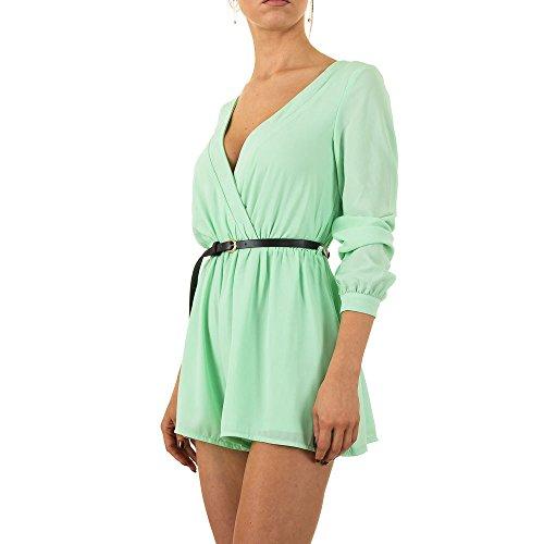 Kurzer Chiffon Overall Für Damen bei Ital-Design Grün