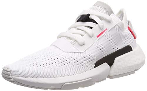 adidas Pod-s3.1 Pk, Herren Gymnastikschuhe, Weiß (Ftwr White/Ftwr White/Shock Red Ftwr White/Ftwr White/Shock Red), 42 2/3 EU (8.5 UK)