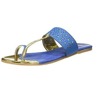 BATA Women's Cassadee Blue Slippers