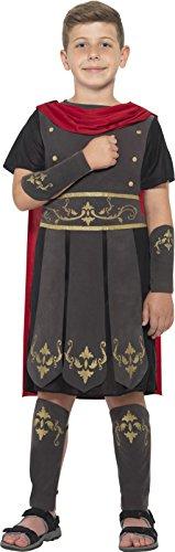 Smiffy's 45477M - Kinder Jungen Römischer Soldat Kostüm, Tunika, Umhang, Arm und Bein Stulpen, Alter: 7-9 Jahre, (Kostüme Armee Kinder Soldat)