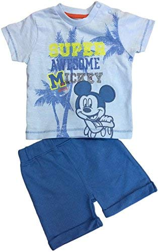 (Baby Jungen Disney Mickey Maus 2pc Shorts T-Shirt Kostüm - Blau, 6-9 Monate)