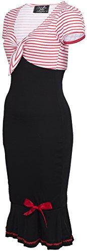 Küstenluder LARISSA Sailor STRIPED Streifen AHOY Pin Up DRESS Kleid Rockabilly -
