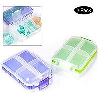 Preisvergleich für Pillendose Satz von 2 Tablettenboxen Kofferform Pillenbox für Reisen Reisen Pillen Organizer Tablettenbox Pill...