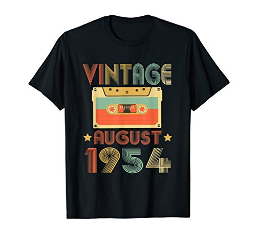 Vintage August 1954 TShirt 65th Birthday gift 65 years old