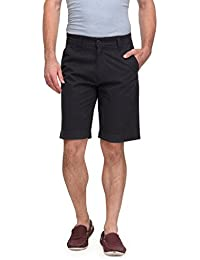 Wear Your Mind Grey Cotton Solid Shorts For Men WSR020.1