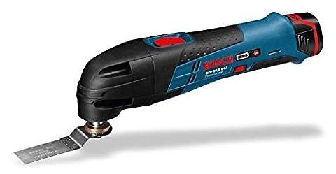Bosch Professional Akku-Multi-Cutter GOP (12V-LI mit 2x 2, 5 Ah Li-Ion, oszillierendes Multi-Funktionswerkzeug, L-Boxx)