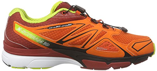 Salomon X-Scream 3D, Scarpe da Trail Running Uomo Rosso (Red (Tomato RED/Flea/gecko Green))