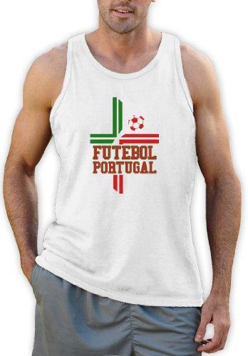 Futebol Portugal-Flagge Tank Top Weiß