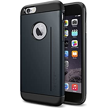 Spigen Coque iPhone 6 [FONCTION SUPPORT] Coque Protectrice pour iPhone 6 [Slim Armor S] [Metal