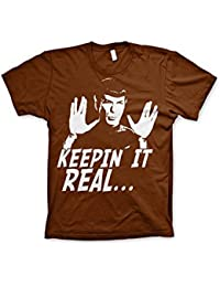 Officially Licensed Merchandise Star Trek - Spock Keepin´ It Real T-Shirt (Navy)