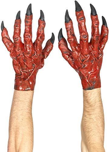 Dämon Kostüm Zubehör - Herren Latex Teufel Dämon Hände Halloween Horror Kostüm Verkleidung Zubehör Handschuhe