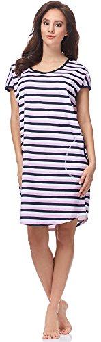 Italian Fashion IF Camicia da Notte per Donna Rachel 0114 Rosa