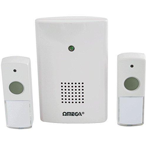 Omega Wireless Door Chime Cordless Door Bell 75 Metres Range Doorbell 75M {5023588173220}
