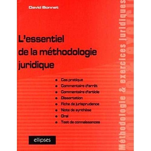 L'essentiel de la méthodologie juridique
