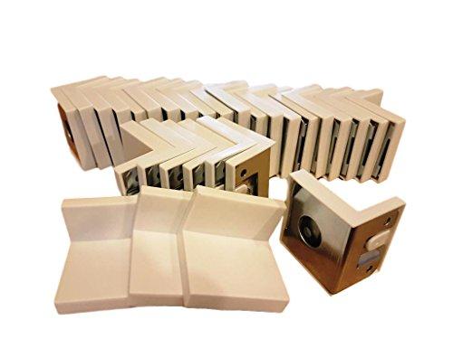 30x 40x 45mm Schrank Mount Hardware Bright ZC Zink versilbert Ecke Gemeinsame 90Grad Hosenträger Klammern Teller - Mount Hardware