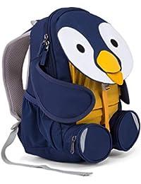 Affenzahn Kinderrucksack mit Brustgurt für Mädchen und Jungen von 3-5 Jahren im Kindergarten und Kita der Kleine Freund Polly Pinguiun - Blau