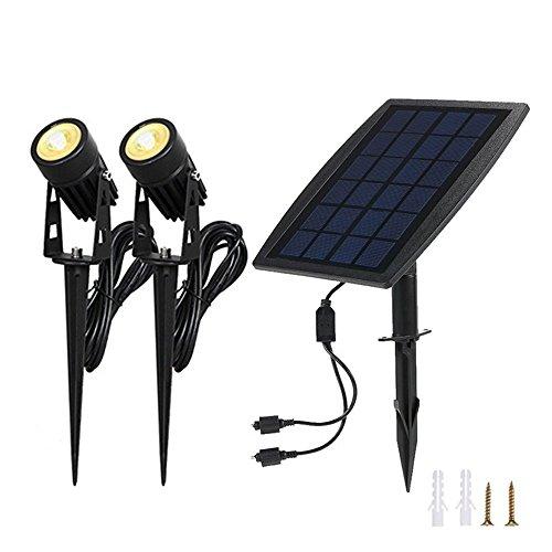 Solarleuchten Garten,Solar Strahler Solar Panel Gebühr Wasserdicht