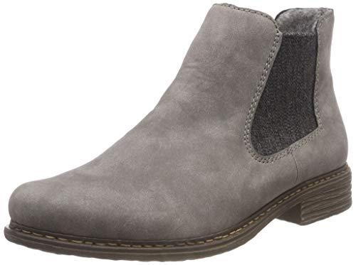 Rieker Z2194 Damen ChelseaBoot,Stiefel,Halbstiefel,Stiefelette,Bootie,Schlupfstiefel,flach,Grey,40 EU