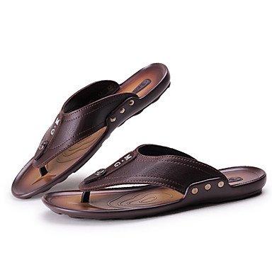 Herren Schuhe Casual Flip-Flops Schwarz/Braun Braun