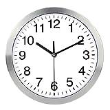 Naughty Monkey INC - Reloj de Pared con Marco de Metal y Cristal, diseño de Cuarzo, diseño Moderno de Cuarzo, Decorativo, para Interiores y cocinas