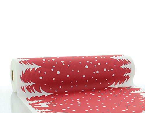 Sovie HORECA Airlaid Tischläufer Marvin 40cm x 24m / Tischdecken-Rolle stoffähnlich / Weihnachten (bordeaux))