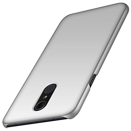 anccer LG Q7 Hülle/ Q7 Plus Hülle/ Q7 Alpha Hülle, [Serie Matte] Elastische Schockabsorption und Ultra Thin Design für LG Q7/ Q7 Plus/ Q7 Alpha (Glattes Silber)