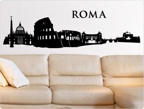 i-love-wandtattoo-adesivo-10319-adesivo-da-parete-skyline-roma-n-1-nero-200-x-55-cm