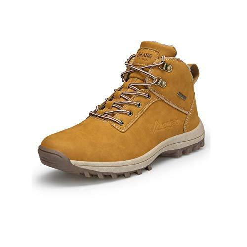 Adong Mens Wasserdichte Hochschlaue-Trekkingschuhe Lace-up Non Slip Breathable Outdoor Schuhe,C,44EU