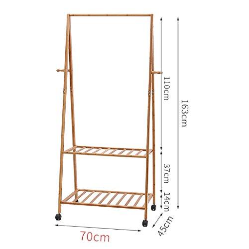 Kleiderständer Boden Schlafzimmer trockengestelle Bambus einfache massivholz Wohnzimmer kleiderständer kleiderbügel (größe : 70cm)
