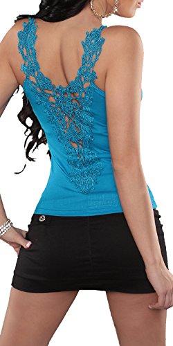Eyekepper-Vestito estivo da donna, in pizzo, senza maniche, taglia unica, 6, 8, 10, taglia UE 34, 36, 38 cm Blu