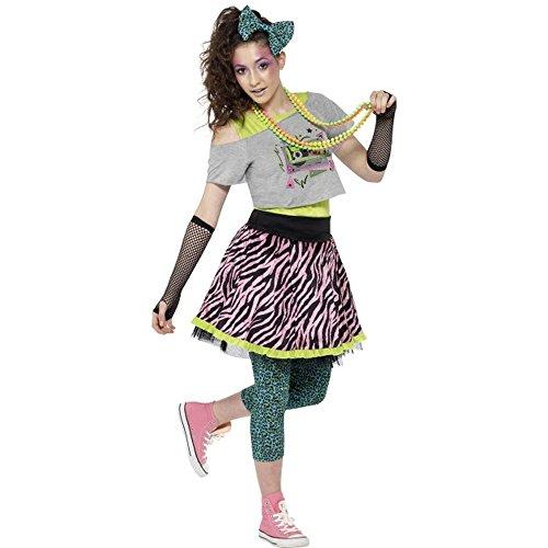 Smiffys Teenager Kostüm 80er Jahre Mädchen Karneval Fasching - Kostüme Teenager Karneval