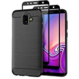 Teayoha Case for Samsung Galaxy J6 Plus 2018, with Tempered